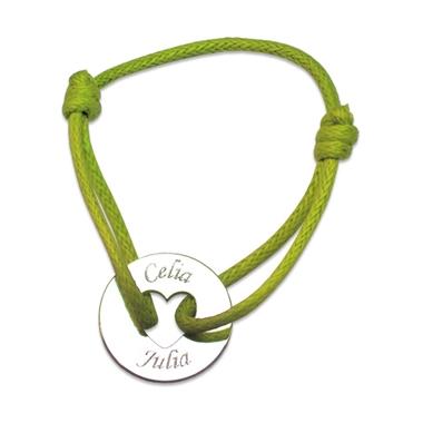 Bracelet jeton ajouré coeur personnalisé