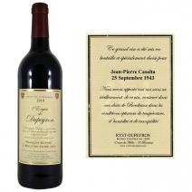 Vin personnalisé - AOC Bordeaux rouge 2010