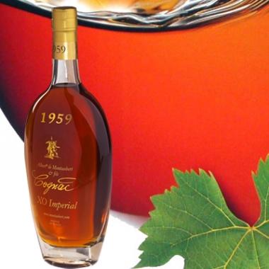 Bouteille de cognac de son année de naissance