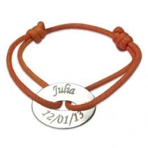 Bracelet jeton ovale gravé