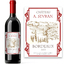 Etiquette personnalisée Bordeaux