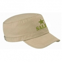 Casquette brodée army beige