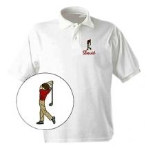 Polo Uni blanc pour homme brodé