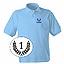 Polo Uni bleu pour homme brodé