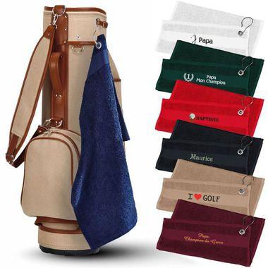 La serviette de golf personnalisée prénom