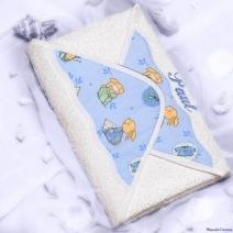 Cape de bain pour bébé brodé à son prénom