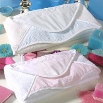 Capes de bain vichy brodées au prénom de bébé