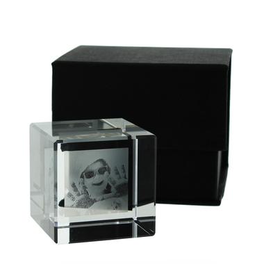 Cube verre photo gravé