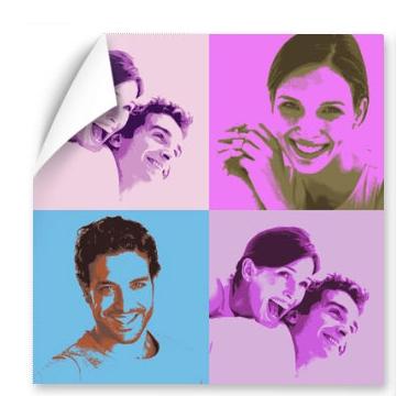 Affiche Pop love personnalisée