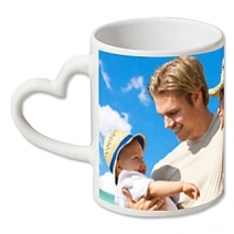 cadeau saint valentin : Mug photo coeur