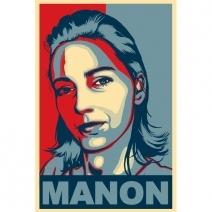Portrait Pop'obama personnalisé pour femme