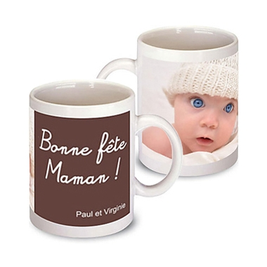 cadeau pour la f te des m res le mug photo bonne f te maman un cadeau photo original pour maman. Black Bedroom Furniture Sets. Home Design Ideas