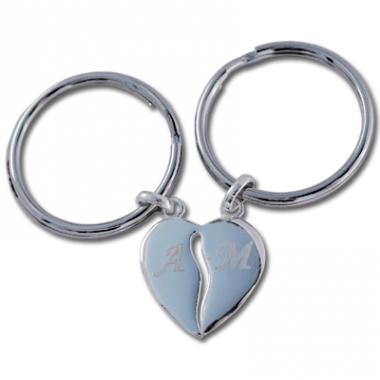 Porte clés coeurs sécables