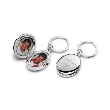 Porte clés duo photo gravé