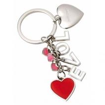 Porte-clés coeur personnalisé gravé