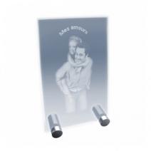 plaque design en verre gravée photo