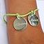 Bracelet gravé deux médailles
