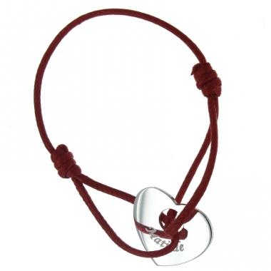 Bracelet Gravé coeur ajouré
