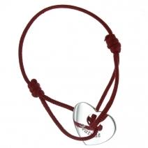 Bracelet coeur ajouré gravé