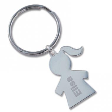 Porte-clés fillette gravé