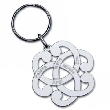 Porte-clés gravé arabesque