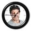 Horloge ronde bords noirs