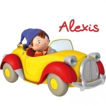 Stickers Oui Oui et sa voiture jaune