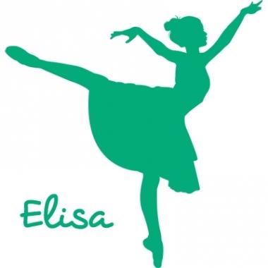 Stickers prénom danseuse