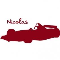 Stickers prénom F1