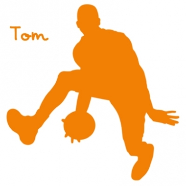 Stickers personnalisé basketteur