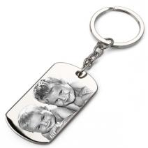Porte-clés plaque gravé