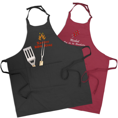 Tablier barbecue brodé