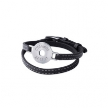 bracelet jeton cuir