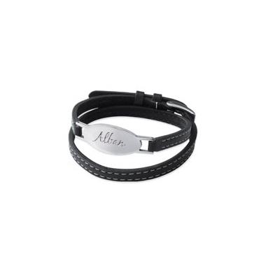 bracelet ovale cuir