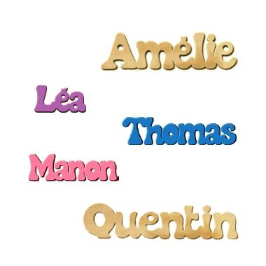 prénom en bois personnalisé