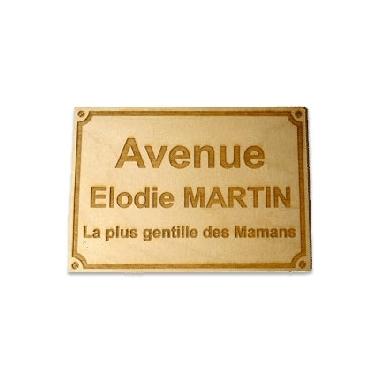 une plaque de rue en bois personnalis e votre nom. Black Bedroom Furniture Sets. Home Design Ideas