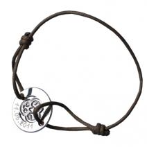 Bracelet rond trèfle ajouré gravé