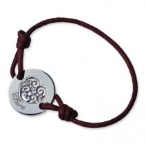 Bracelet rond coeur ajouré gravé