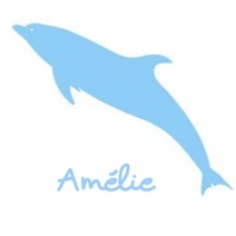 Stickers prénom dauphin