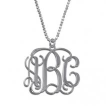 Pendentif initiales monogramme argent