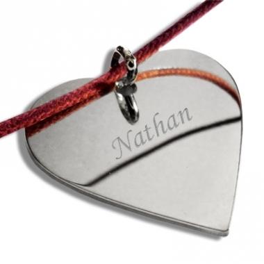 Grand pendentif coeur personnalisé