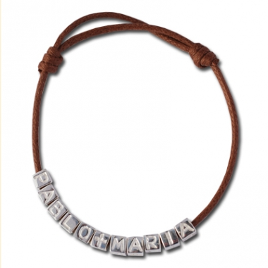 Bracelet Lettres cube