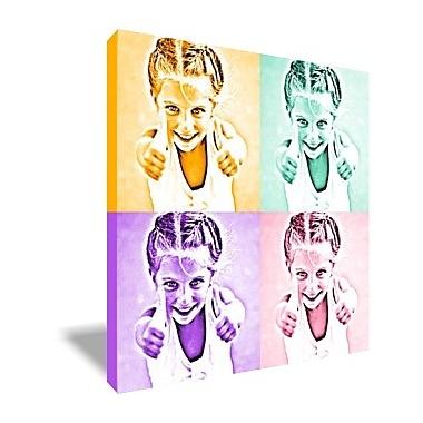 tableau pop art monochrome 4 photos