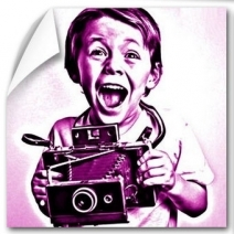 Poster pop art monochrome
