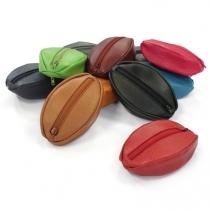 Porte monnaie cuir ovale personnalisé