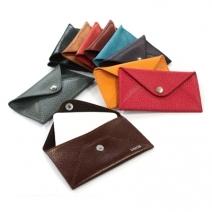 Porte-cartes cuir enveloppe personnalisé