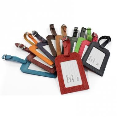 Porte tiquette de bagage cuir personnalis for 1 porte etiquette de voyage