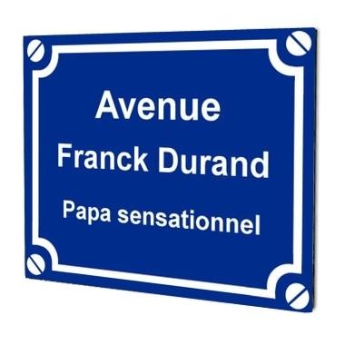 Plaque de rue personnalisée texte