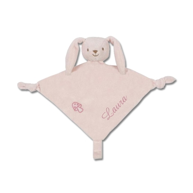 Lapin attache tétine rose