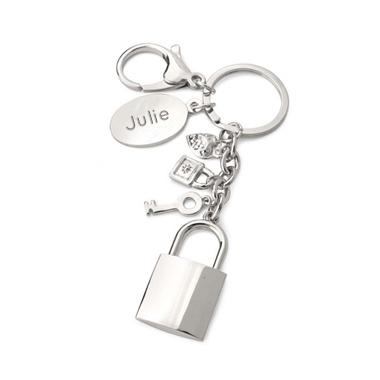 porte clés cadenas gravé